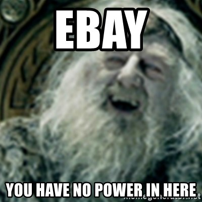 you have no power here - ebay  you have no power in here