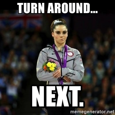 Unimpressed McKayla Maroney - Turn around... next.