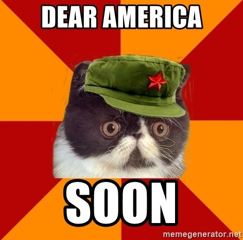 Communist Cat - dear america soon