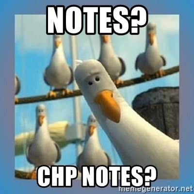 finding nemo birds - notes? chp notes?