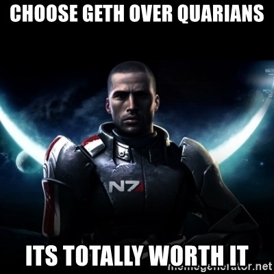 Mass Effect - choose Geth over Quarians its totally worth it