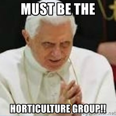 Pedo Pope - MUST BE THE HORTICULTURE GROUP!!