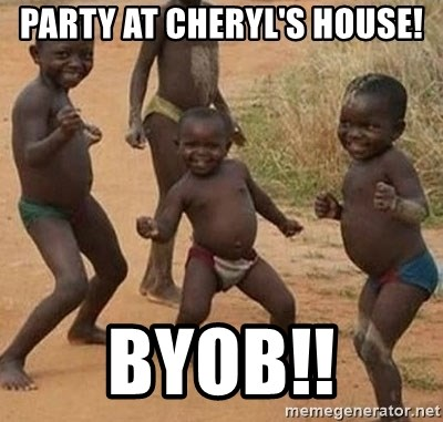 Dancing african boy - Party at Cheryl's house! BYob!!
