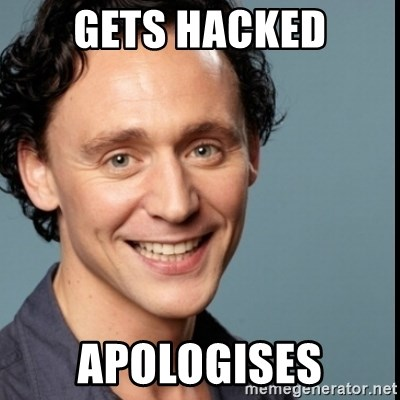 Nice Guy Tom Hiddleston - GETS HACKED apologises
