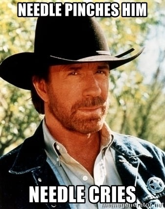 Brutal Chuck Norris - NEEDLE PINCHES HIM NEEDLE CRIES