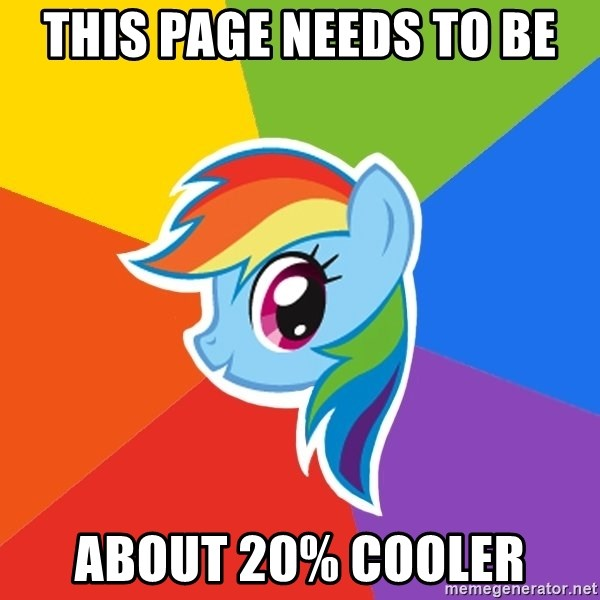 Rainbow Dash - this page needs to be about 20% Cooler