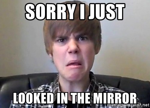 Justin Bieber 213 - Sorry i just looked in the mirror