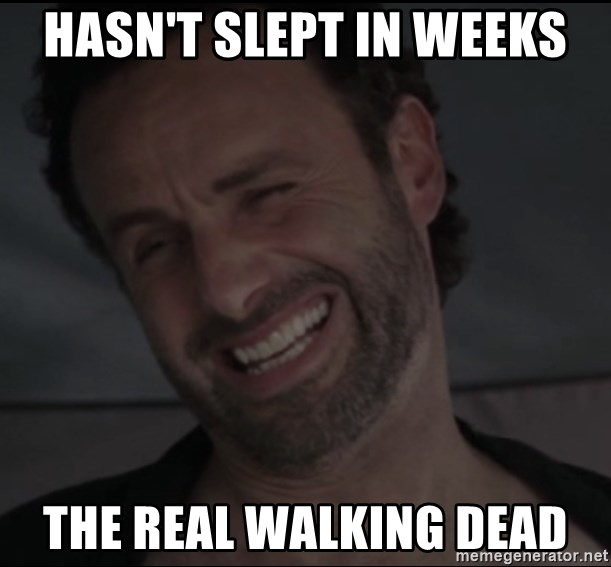 RICK THE WALKING DEAD - hasn't slept in weeks the real walking dead