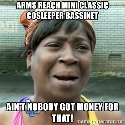 Ain't Nobody got time fo that - Arms reach mini classic cosleeper bassinet Ain't NoBody got Money FOR that!