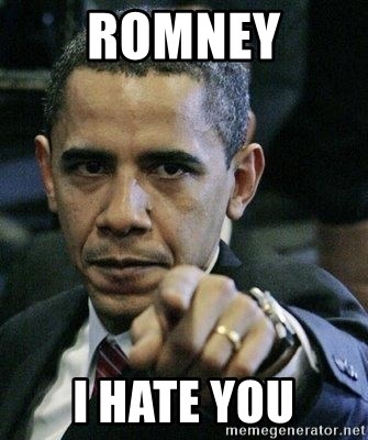 Pissed Off Barack Obama - romney i hate you