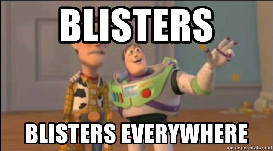 X, X Everywhere  - Blisters blisters everywhere