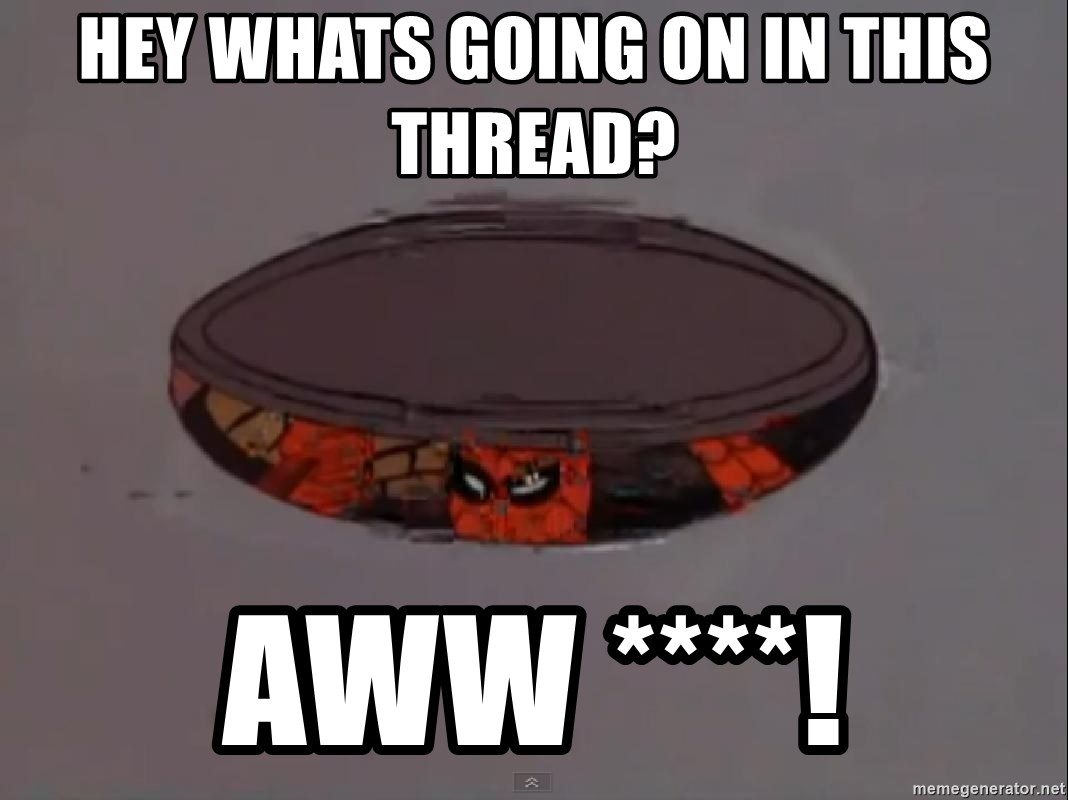 Spiderman in Sewer - hey whats going on in this Thread? AWW ****!
