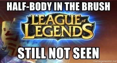 League of legends - Half-Body in the brush still not seen