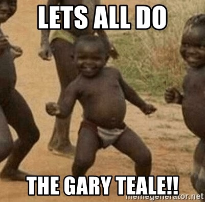 Success African Kid - Lets all do The Gary Teale!!