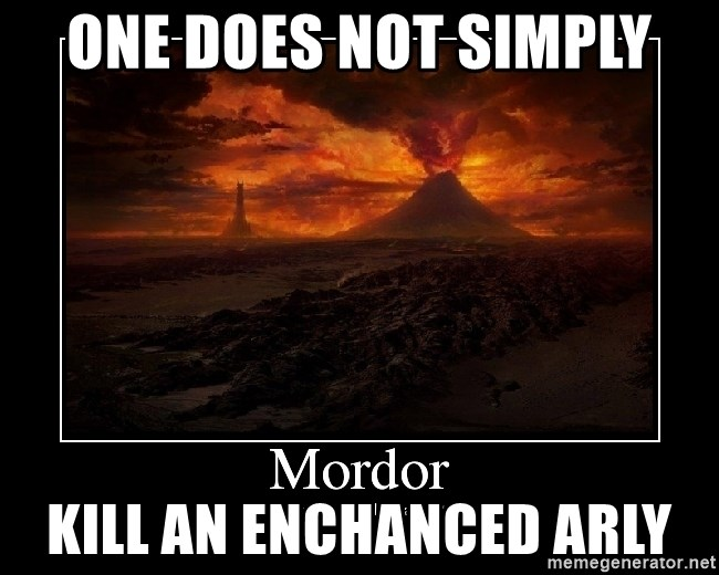 Lord Of The Rings Boromir One Does Not Simply Mordor - One does not simply kill an enchanced arly