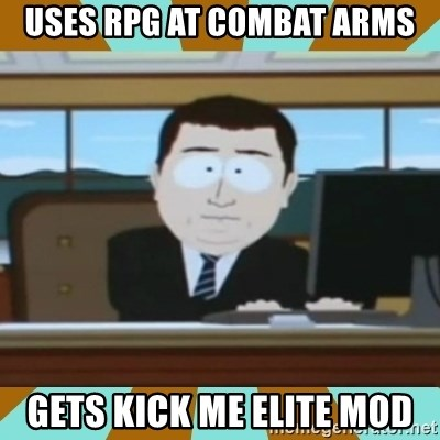 And it's gone - uses rpg at combat arms gets kick me elite mod