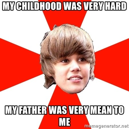 Justin Bieber - my childhood was very hard my father was very mean to me