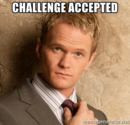 BARNEYxSTINSON - Challenge accepted