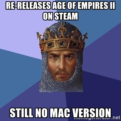Age Of Empires - Re-releases Age of Empires II On steam Still no mac version
