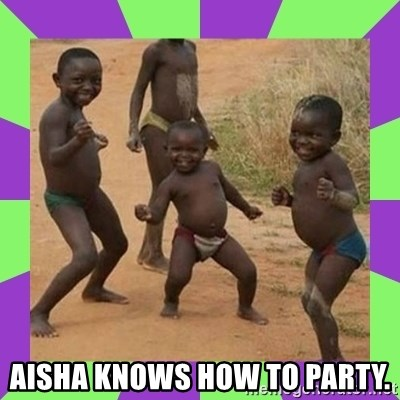 african kids dancing -  AISHA KNOWS HOW TO PARTY.