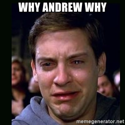 crying peter parker - why andrew why