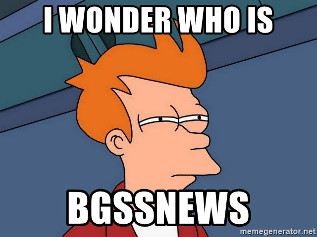 Futurama Fry - i wonder who is bgssnews
