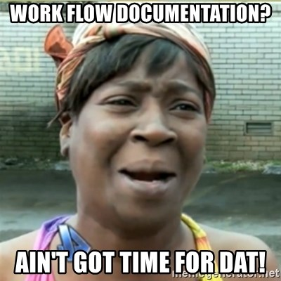 Ain't Nobody got time fo that - Work Flow documentation? Ain't got time for dat!