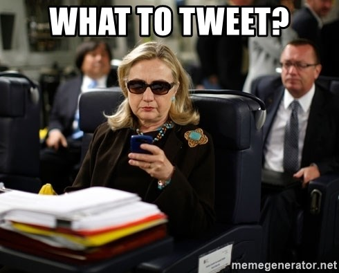 Texts from Hillary - What to Tweet?
