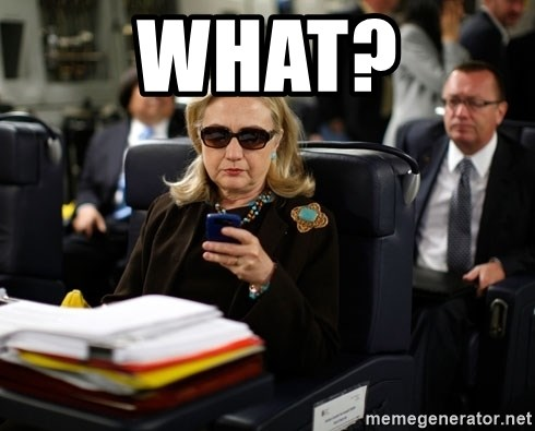 Texts from Hillary - What?