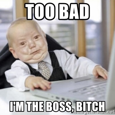 Working Babby - TOO BAD  I'M THE BOSS, BITCH