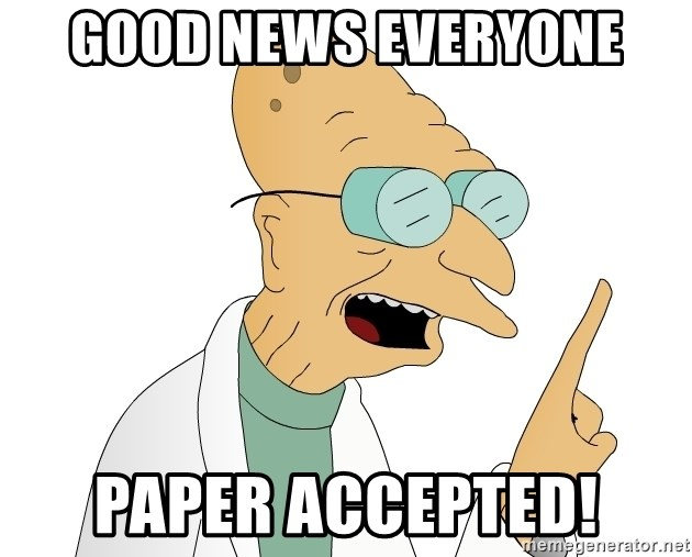 Good News Everyone - GOOD NEWS EVERYONE PAPER ACCEPTED!