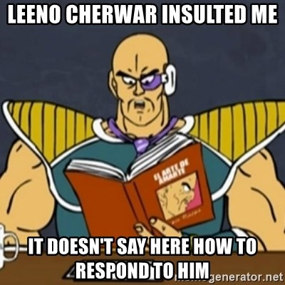 El Arte de Amarte por Nappa - Leeno cherwar insulted me it doesn't say here how to respond to him