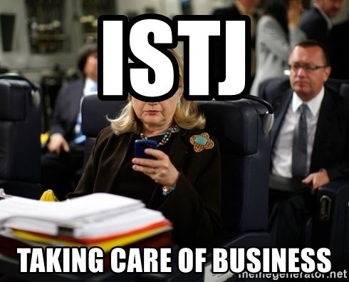 Texts from Hillary - ISTJ Taking care of business
