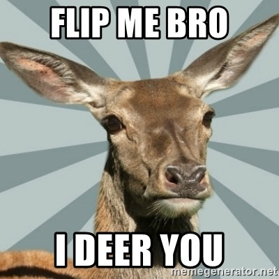 Comox Valley Deer - FLIP ME BRO I DEER YOU