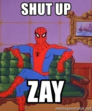 spider manf - SHUT UP ZAY