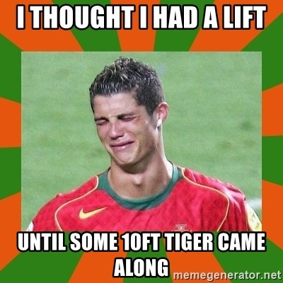 cristianoronaldo - I THOUGHT I HAD A LIFT UNTIL SOME 10FT TIGER CAME ALONG
