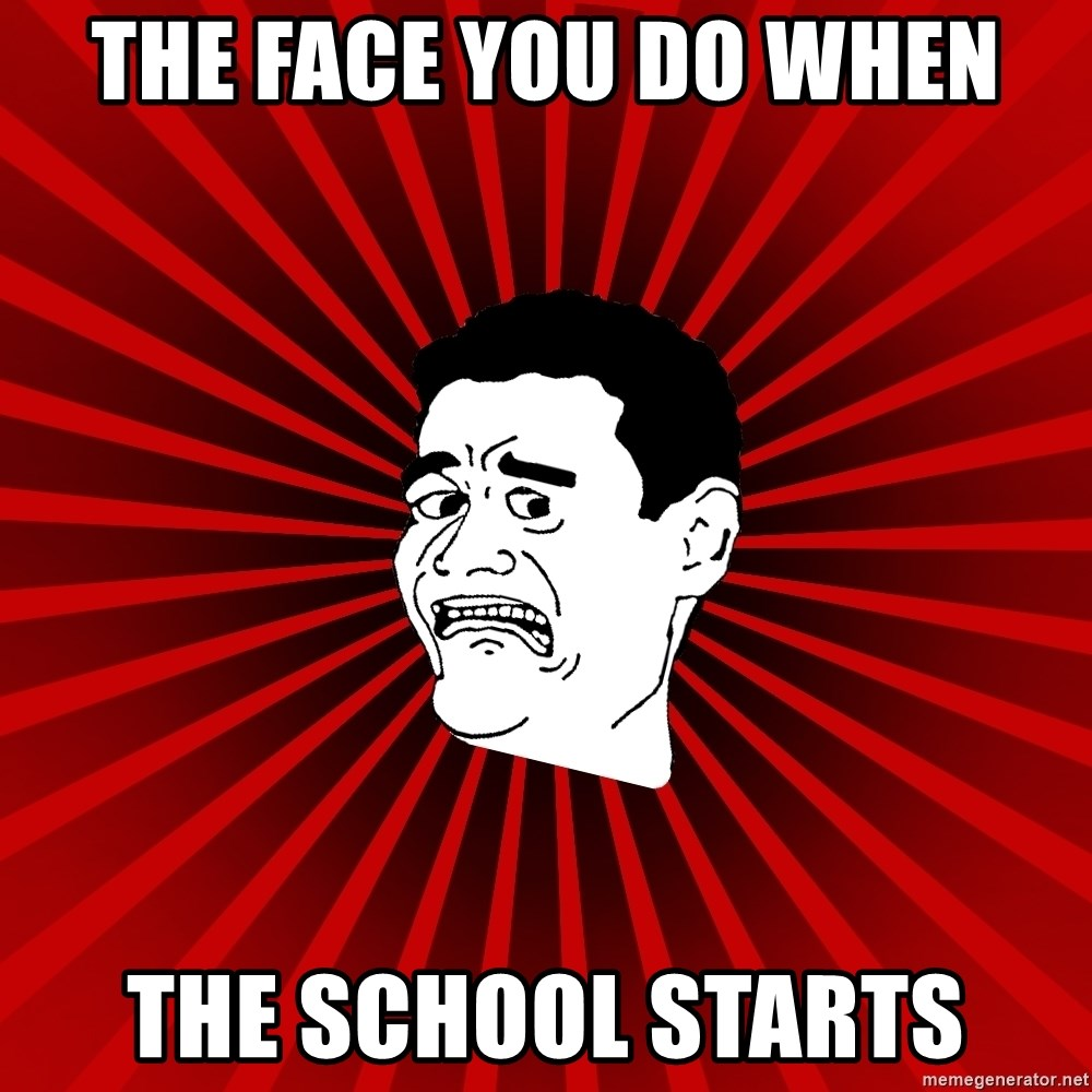 Afraid Yao Ming trollface - THE FACE YOU DO WHEN THE SCHOOL STARTS