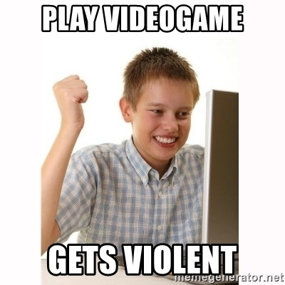 Computer kid - Play videogame gets violent
