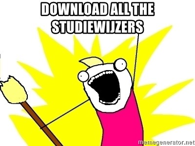 X ALL THE THINGS - download all the studiewijzers