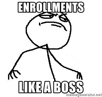 Like A Boss - enrollments like a boss