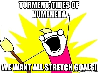 X ALL THE THINGS - Torment: Tides of Numenera we want all Stretch goals!