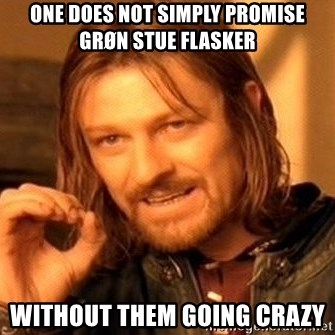 One Does Not Simply - One does not simply promise grøn stue flasker without them going crazy