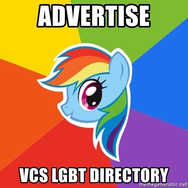 Rainbow Dash - Advertise VCS LGBT Directory