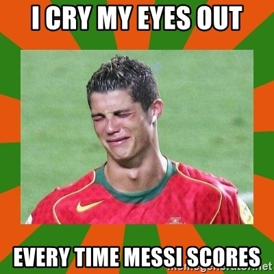 cristianoronaldo - i cry my eyes out every time messi scores