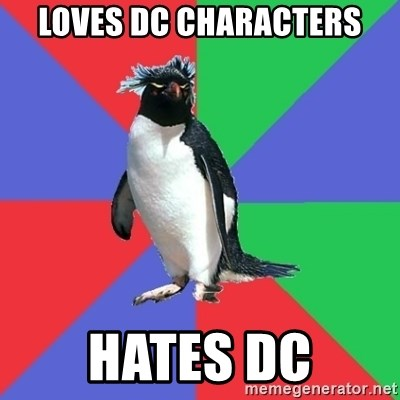 Comic Book Addict Penguin - Loves DC Characters Hates DC