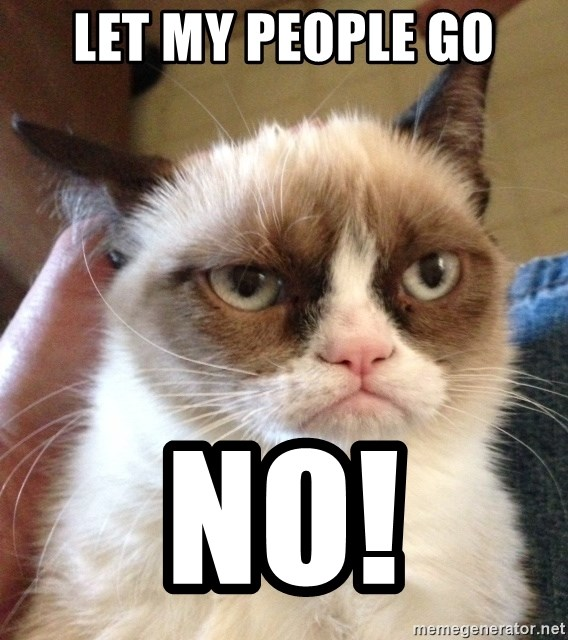 Grumpy Cat 2 - Let my people go no!