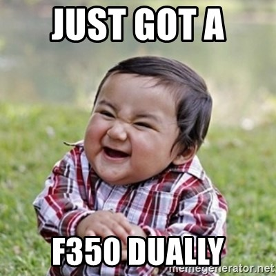 evil toddler kid2 - just got a  f350 dually