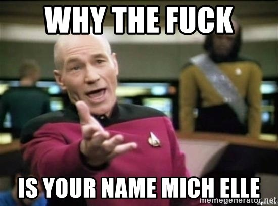 Why the fuck - why the fuck  is your name mich elle