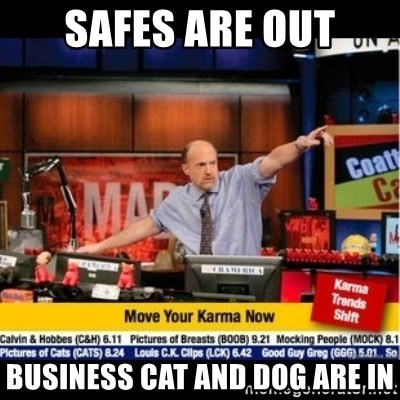Mad Karma With Jim Cramer - Safes are out Business cat and dog are in