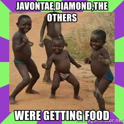 african kids dancing - javontae,diamond,the others were getting food